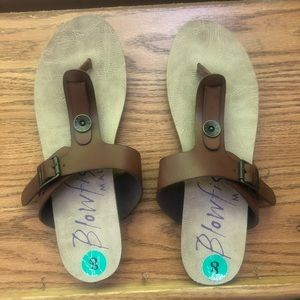 Women's Simmer Leather Sandals Blowfish Size 8